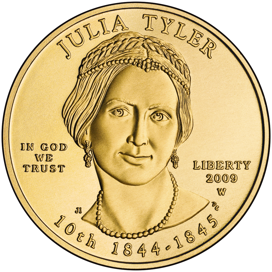 Julia Tyler first spouse coin