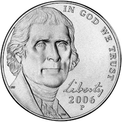 2006 Jefferson Nickel obverse