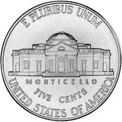 2006 Jefferson Nickel reverse