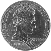 1918 Illinois centennial commemorative half dollar