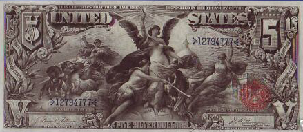 1896 Educational series two dollar silver certificate