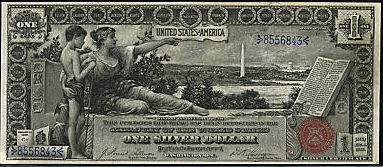 1896 Educational series one dollar silver certificate