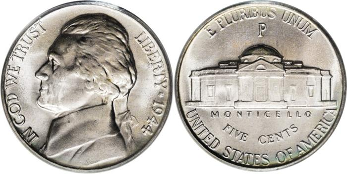 silver jefferson nickel